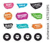 ink brush sale banners and... | Shutterstock .eps vector #627511091