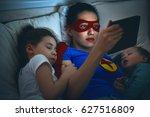 adorable little children girls... | Shutterstock . vector #627516809
