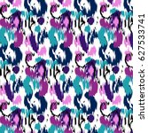 ikat ogee vector background... | Shutterstock .eps vector #627533741
