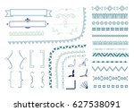 big set of decorative elements  ... | Shutterstock .eps vector #627538091