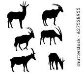 vector set of antelopes...