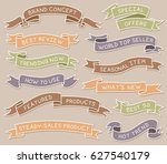 colored hand drawn ribbon... | Shutterstock .eps vector #627540179