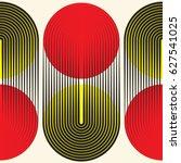 seamless circular pattern.... | Shutterstock .eps vector #627541025