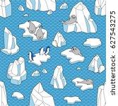 polar life illustration. vector ...   Shutterstock .eps vector #627543275