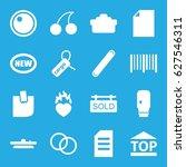 sticker icons set. set of 16... | Shutterstock .eps vector #627546311
