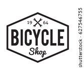 bicycle badge label. bike shop. ... | Shutterstock .eps vector #627546755