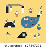 stationery vector illustration... | Shutterstock .eps vector #627547271