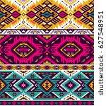 retro colors tribal vector...   Shutterstock .eps vector #627548951