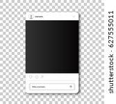 social network photo frame.... | Shutterstock .eps vector #627555011