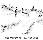 musical designs sets with... | Shutterstock .eps vector #62755900