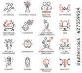 vector set icons related to... | Shutterstock .eps vector #627559934