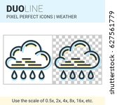 pixel perfect duo line rain... | Shutterstock .eps vector #627561779