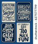college and slogan graphic set | Shutterstock .eps vector #627577799