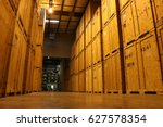 Huge Wall Of Wooden Crates In...