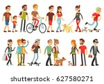 women and men in various... | Shutterstock .eps vector #627580271