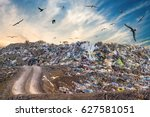 Pollution Concept. Garbage Pil...
