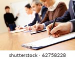 close up of business people... | Shutterstock . vector #62758228