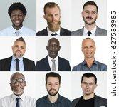 collection of businessmen...   Shutterstock . vector #627583985