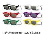 vector set of colored... | Shutterstock .eps vector #627586565
