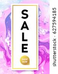 sale. black and gold banner... | Shutterstock .eps vector #627594185