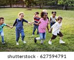 happiness group of cute and... | Shutterstock . vector #627594791