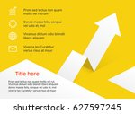 business infographics origami... | Shutterstock .eps vector #627597245