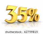 gold thirty five percent ... | Shutterstock . vector #62759815