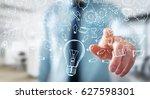 businessman on blurred...   Shutterstock . vector #627598301