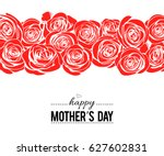 happy mother's day lettering... | Shutterstock .eps vector #627602831