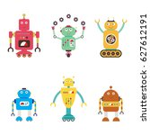 robots collection. android... | Shutterstock .eps vector #627612191