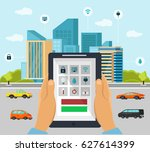 smart home automation system.... | Shutterstock .eps vector #627614399