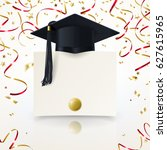 congratulatory background on... | Shutterstock .eps vector #627615965