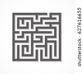 Black Maze With Shadow On A...