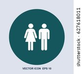wc vector icon | Shutterstock .eps vector #627618011
