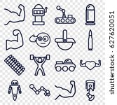 arm icons set. set of 16 arm... | Shutterstock .eps vector #627620051