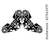 tattoo tribal vector designs.... | Shutterstock .eps vector #627621479