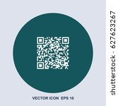 qr code vector icon | Shutterstock .eps vector #627623267