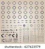 circle and square wicker... | Shutterstock .eps vector #627623579
