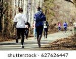 Morning Run Group Women Runnin...