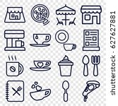 Cafe Icons Set. Set Of 16 Cafe...