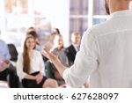 business trainer giving... | Shutterstock . vector #627628097