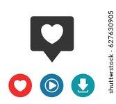 heart  like vector icon | Shutterstock .eps vector #627630905