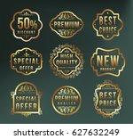 high quality luxury golden...   Shutterstock .eps vector #627632249