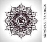 indian floral mandala with all... | Shutterstock .eps vector #627640265