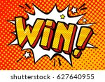 win message word bubble in... | Shutterstock .eps vector #627640955