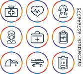patient icons set. set of 9...   Shutterstock .eps vector #627646775