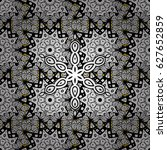 pattern medieval floral royal... | Shutterstock . vector #627652859