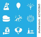 anniversary icons set. set of 9 ... | Shutterstock .eps vector #627652865