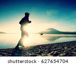 silhouette of sport active man... | Shutterstock . vector #627654704