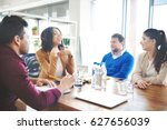 group of business people... | Shutterstock . vector #627656039
